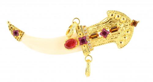 Rare Gianfranco Ferre Sword Brooch