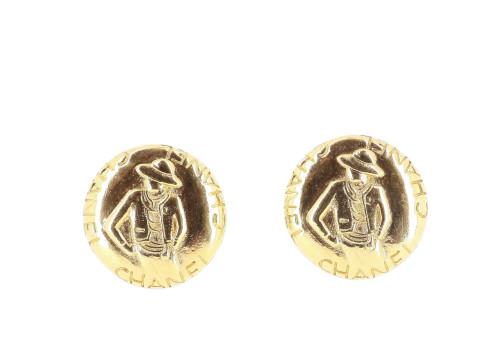 Chanel 1990's Cambon Earrings