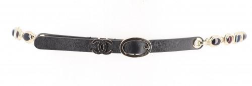 Chanel Blue Gem Belt