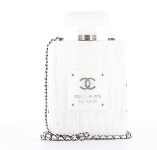 Chanel 2016 Parfum Marble Lucite Bottle minaudière