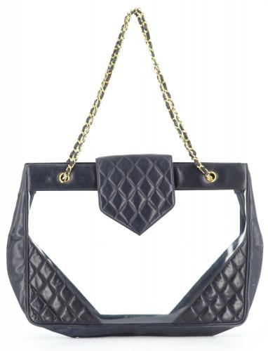 Chanel 1989's Maxi plexi beach bag