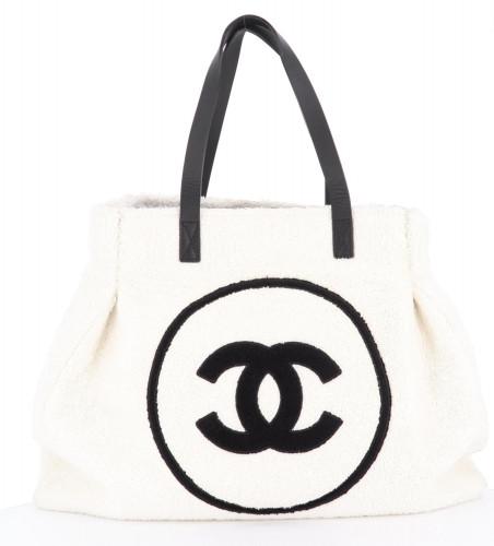 Chanel White Beach Bag