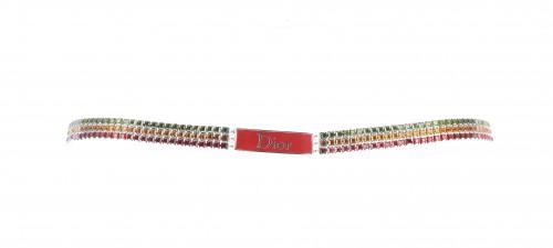 Dior Green/Orange/Red Gems Belt