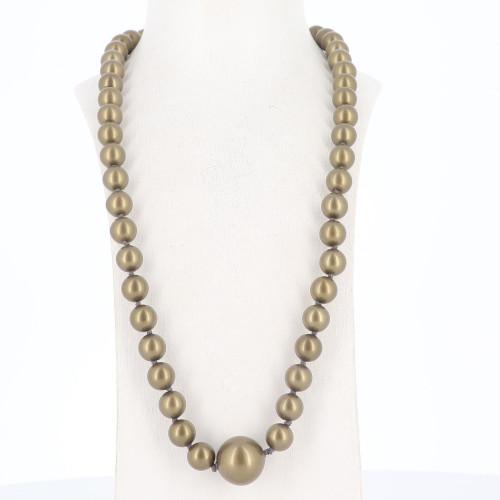Chanel dark Green Pearl Necklace