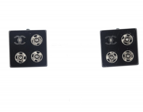 Chanel Plexi cube Earrings