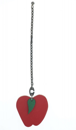 Hermes Red Apple Hanging Chain