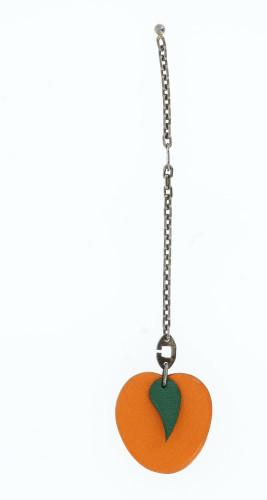 Hermes Orange Apple Hanging Chain