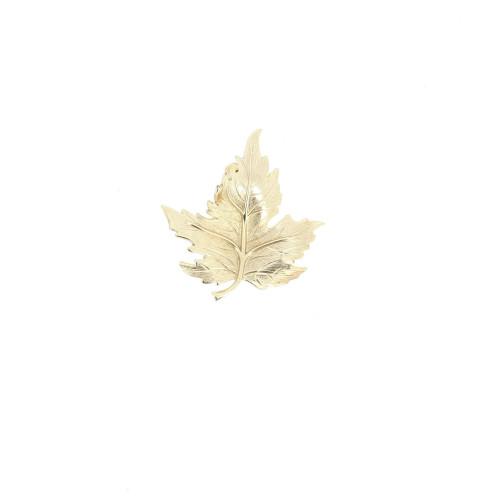 Dior Gold Leaf Brooch