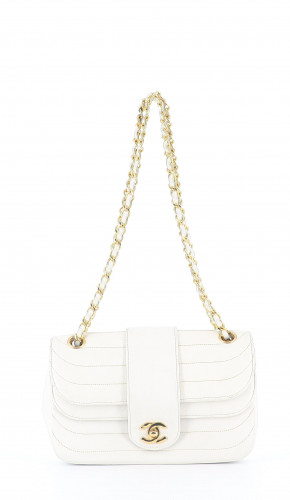 Chanel white double flap