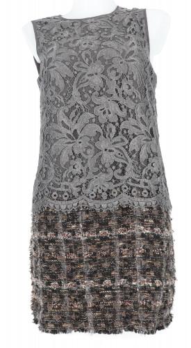Dolce and Gabbana Brocade & Tweed dress