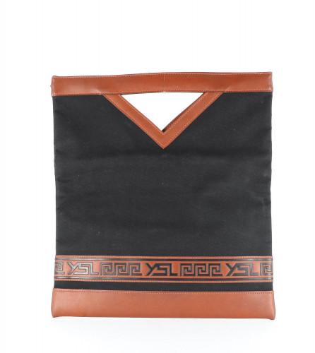 Yves Saint Laurent Black Canvas Tote Bag