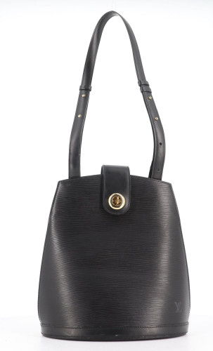Louis Vuitton Black Epi Cluny