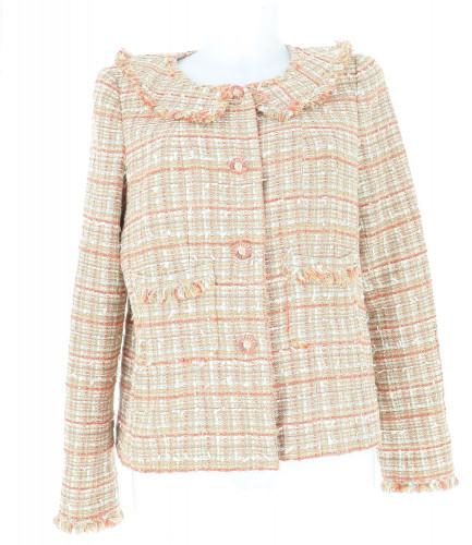 Veste Chanel tweed marron taille 42 98A