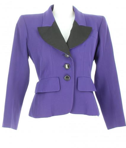 Yves Saint Laurent purple jacket