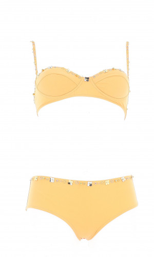 Louis Vuitton Swimsuit double piece with charm