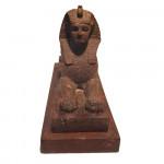 19th century Sphinx cast iron door stop