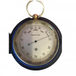An unusually large pocket aneroid barometer by T W Watson of Pall Mall, complete with original case & in working order, circa 1880.