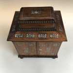 William IV mother-of-pearl inlaid rosewood table top jewellery box, circa 1830