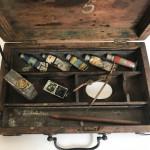 A rare Georgian artist's travel paint box, circa 1800