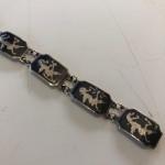 Vintage silver niello work bracelet