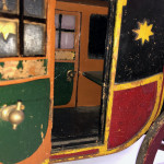 A late 19th century scratch-built model Royal Mail coach.