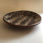 1950's Wattisfield Studio pottery marble glass platter
