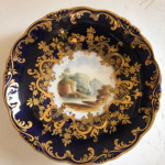 An early Victorian cabinet cup and saucer circa 1840