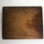 Victorian Poker-Work Wooden Plaque signed S Pelly 1852
