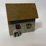 Three naive scratch-build model cottages, circa 1930