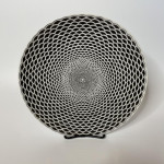 Set of 6 Fornasetti Egocentrisomo pattern plates