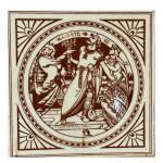 Six 19th century Minton Shakespeare tiles