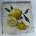 Pair of hand painted pottery tiles, circa 1800