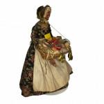 Rare 19th century wax pedlar doll