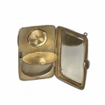 Mappin & Webb engine-turned silver sovereign and powder case