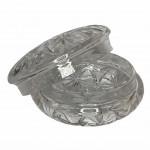 Large 1930's Bohemian cut glass powder bowl
