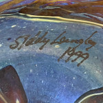 Siddy Langley art glass paperweight, signed and dated 1999