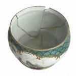 A rare 19th century Meissen porcelain tea set for two. Circa 1780