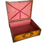18th century tulip wood and maple parquetry workbox, circa 1770