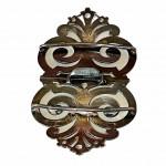 Silver stylised pierced belt buckle by George Walton & Co, Birmingham 1924