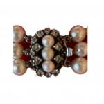Triple strand Baroque pearl necklace, circa 1950