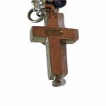 Silver 1920's pilgrim bracelet set with various religious charms