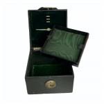 Victorian leather jewellery casket