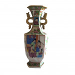 A mid 19th century Cantonese hand-painted bottle vase, circa 1850