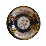A Regency Derby Porcelain cabinet cup and saucer circa 1820