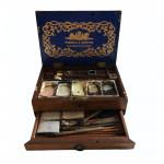19th century mahogany Windsor and Newton paint box