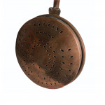 A fine 17th century country-house pierced-copper warming pan with an engraved coronet, circa 1659