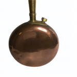 A 19th century country house copper and brass bed warmer with ebonised handle