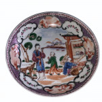 18th century Chinese export-porcelain tea cup and saucer, circa 1780