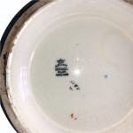 A 1950s blue-ground, Chintz Ware rose bowl
