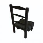 A 19th century bronze miniature rush seated chair.